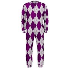 Plaid pattern OnePiece Jumpsuit (Men)