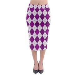 Plaid pattern Midi Pencil Skirt