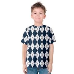 Plaid pattern Kids  Cotton Tee