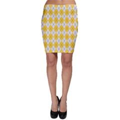Plaid pattern Bodycon Skirt