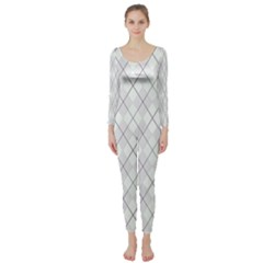 Plaid pattern Long Sleeve Catsuit