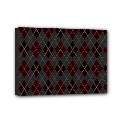Plaid pattern Mini Canvas 7  x 5