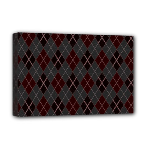 Plaid pattern Deluxe Canvas 18  x 12