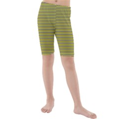 Lines pattern Kids  Mid Length Swim Shorts