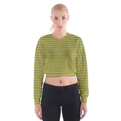 Lines pattern Cropped Sweatshirt