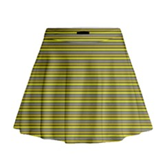 Lines pattern Mini Flare Skirt