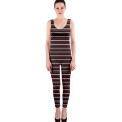 Lines pattern OnePiece Catsuit