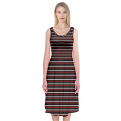 Lines pattern Midi Sleeveless Dress