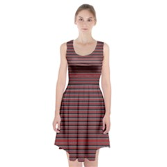 Lines pattern Racerback Midi Dress