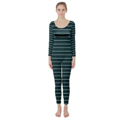 Lines pattern Long Sleeve Catsuit