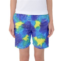 Mulberry Paper Gift Moon Star Women s Basketball Shorts