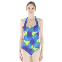 Mulberry Paper Gift Moon Star Halter Swimsuit