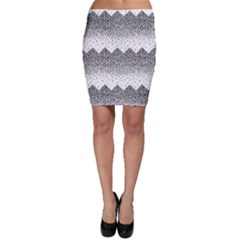 Original Plaid Chevron Wave Bodycon Skirt
