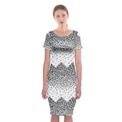 Original Plaid Chevron Wave Classic Short Sleeve Midi Dress
