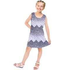 Original Plaid Chevron Wave Kids  Tunic Dress
