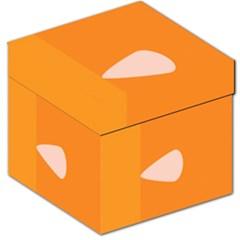 Screen Shot Circle Animations Orange White Line Color Storage Stool 12