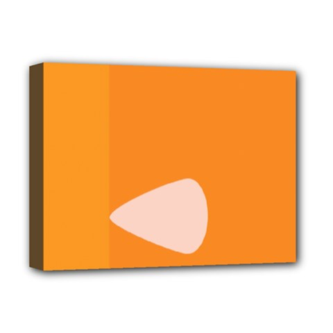 Screen Shot Circle Animations Orange White Line Color Deluxe Canvas 16  x 12