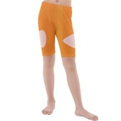 Screen Shot Circle Animations Orange White Line Color Kids  Mid Length Swim Shorts