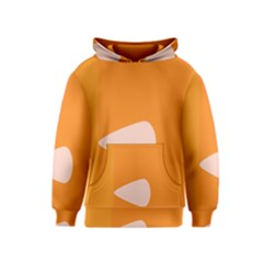 Screen Shot Circle Animations Orange White Line Color Kids  Pullover Hoodie