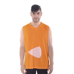 Screen Shot Circle Animations Orange White Line Color Men s Basketball Tank Top