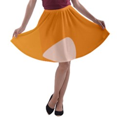 Screen Shot Circle Animations Orange White Line Color A-line Skater Skirt