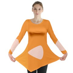 Screen Shot Circle Animations Orange White Line Color Long Sleeve Tunic