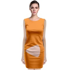 Screen Shot Circle Animations Orange White Line Color Classic Sleeveless Midi Dress