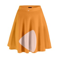 Screen Shot Circle Animations Orange White Line Color High Waist Skirt