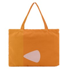 Screen Shot Circle Animations Orange White Line Color Medium Zipper Tote Bag