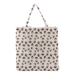 Autumn Leaves Motif Pattern Grocery Tote Bag