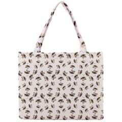 Autumn Leaves Motif Pattern Mini Tote Bag