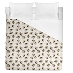 Autumn Leaves Motif Pattern Duvet Cover (Queen Size)