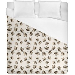 Autumn Leaves Motif Pattern Duvet Cover (California King Size)