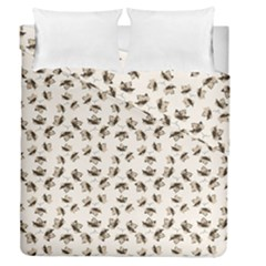 Autumn Leaves Motif Pattern Duvet Cover Double Side (Queen Size)