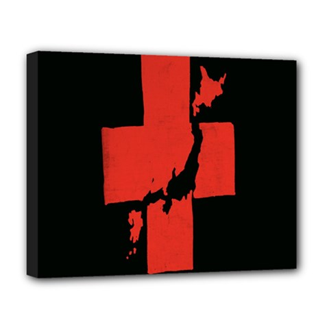 Sign Health Red Black Deluxe Canvas 20  x 16