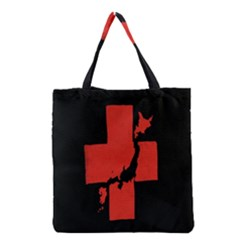 Sign Health Red Black Grocery Tote Bag