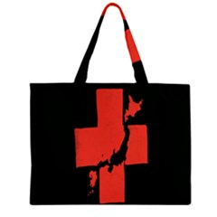 Sign Health Red Black Large Tote Bag