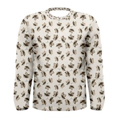 Autumn Leaves Motif Pattern Men s Long Sleeve Tee