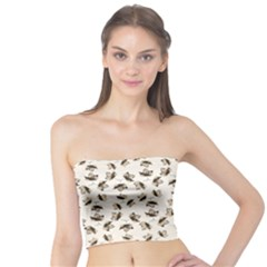 Autumn Leaves Motif Pattern Tube Top