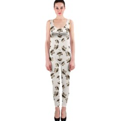Autumn Leaves Motif Pattern OnePiece Catsuit