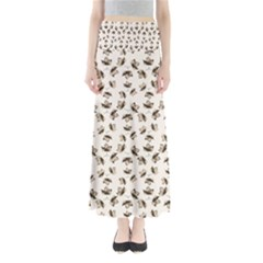 Autumn Leaves Motif Pattern Maxi Skirts
