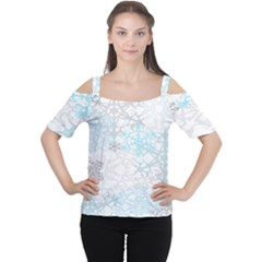 Sign Flower Floral Transparent Women s Cutout Shoulder Tee