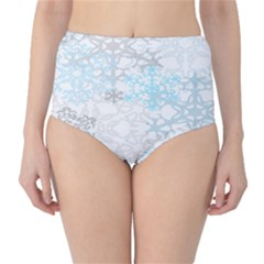 Sign Flower Floral Transparent High-Waist Bikini Bottoms