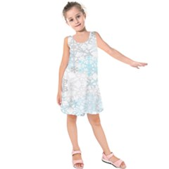 Sign Flower Floral Transparent Kids  Sleeveless Dress