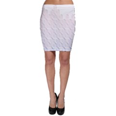 Seamless Horizontal Modern Stylish Repeating Geometric Shapes Rose Quartz Bodycon Skirt