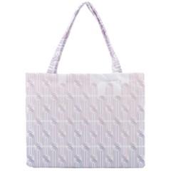 Seamless Horizontal Modern Stylish Repeating Geometric Shapes Rose Quartz Mini Tote Bag
