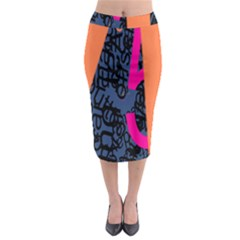 Recursive Reality Number Midi Pencil Skirt