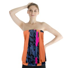 Recursive Reality Number Strapless Top