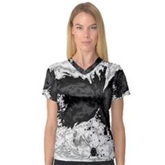 Abstraction Women s V-Neck Sport Mesh Tee
