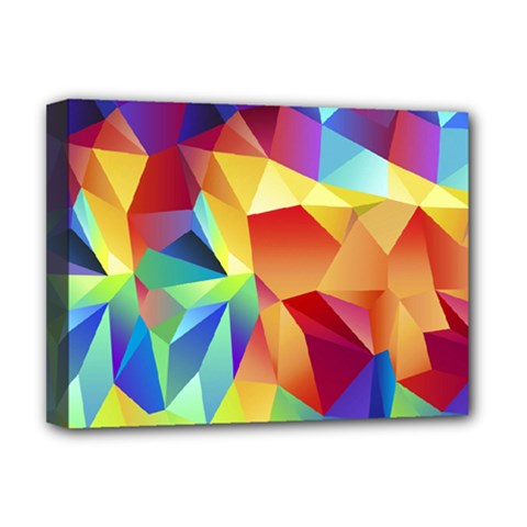 Triangles Space Rainbow Color Deluxe Canvas 16  x 12